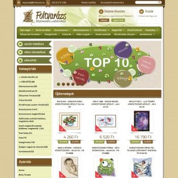 Foltvarázs keresztszemes - kézimunka webáruház - keresztszemes készletek, foltvarrás termékek, szalaghímzés, leírások (20140903)